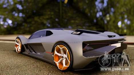 Lamborghini Terzo Millennio 2017 Concept pour GTA San Andreas laissé vue