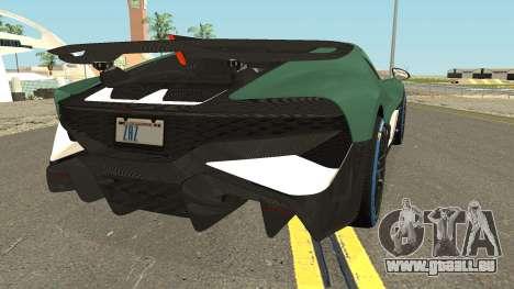 Bugatti Divo 2019 für GTA San Andreas rechten Ansicht