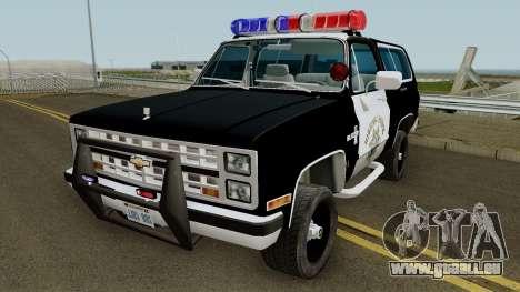 SAHP Chevrolet Blazer 1985 pour GTA San Andreas