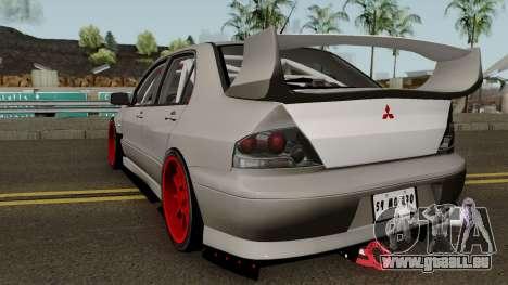 Mitsubishi Evo (DRIFT TUNING) für GTA San Andreas zurück linke Ansicht