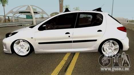 Peugeot 206 2012 pour GTA San Andreas laissé vue