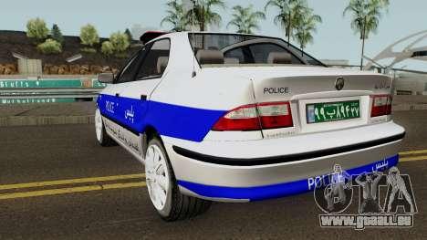 IKCO Samand Police LX v3 für GTA San Andreas zurück linke Ansicht