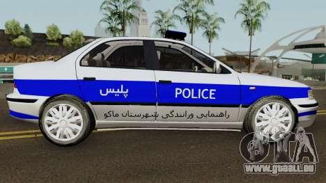 IKCO Samand Police LX v3 für GTA San Andreas Rückansicht