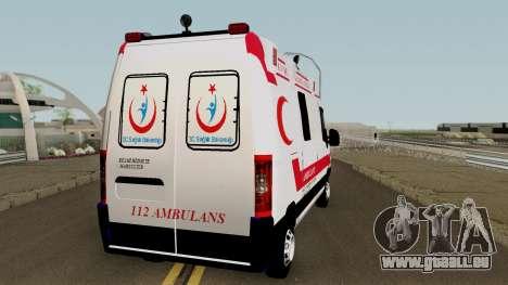 Fiat Ducato 2005 Turkish Ambulance für GTA San Andreas rechten Ansicht