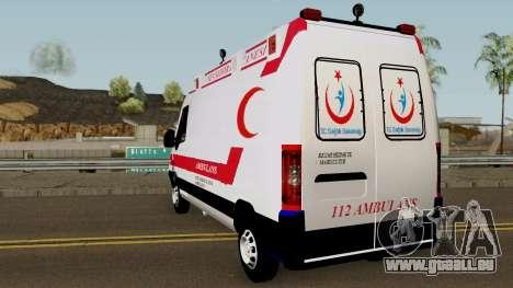 Fiat Ducato 2005 Turkish Ambulance für GTA San Andreas zurück linke Ansicht