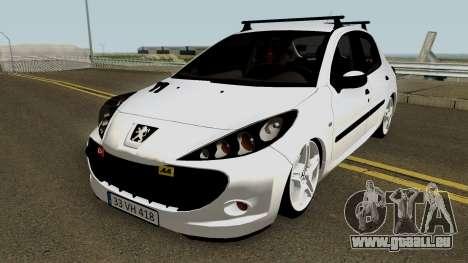 Peugeot 206 2012 pour GTA San Andreas