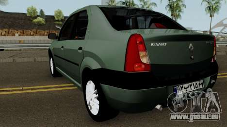 Renault Tondar 90 (Iranian) für GTA San Andreas zurück linke Ansicht