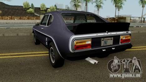 Ford Capri RS 3100 1973 pour GTA San Andreas sur la vue arrière gauche