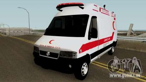 Fiat Ducato 2005 Turkish Ambulance für GTA San Andreas