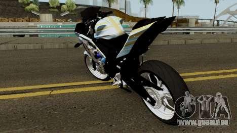 Yamaha R25 Mitsumine Itasha pour GTA San Andreas sur la vue arrière gauche
