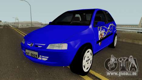 Chevrolet Celta With Paint Jobs für GTA San Andreas obere Ansicht