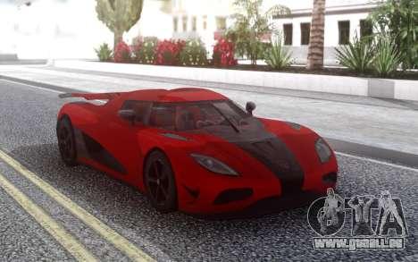 Koenigsegg Agera R für GTA San Andreas