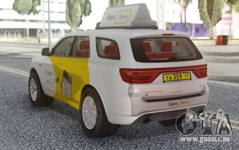 Dodge Durango SRT Yandex Taxi pour GTA San Andreas sur la vue arrière gauche