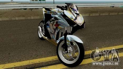 Yamaha R25 Mitsumine Itasha pour GTA San Andreas vue intérieure