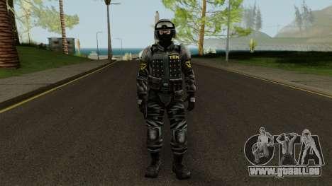 TEK Skin 3 pour GTA San Andreas deuxième écran