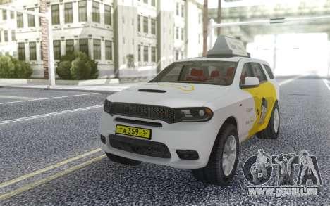 Dodge Durango SRT Yandex Taxi pour GTA San Andreas vue arrière