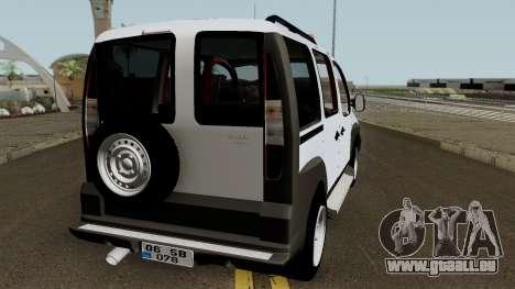 Fiat Doblo 2005 für GTA San Andreas rechten Ansicht