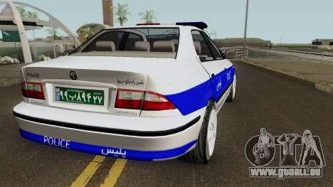 IKCO Samand Police LX v3 für GTA San Andreas rechten Ansicht