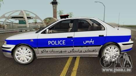 IKCO Samand Police LX v3 für GTA San Andreas linke Ansicht