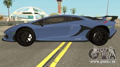 Lamborghini Aventador SVJ LP770-4 2018 pour GTA San Andreas laissé vue
