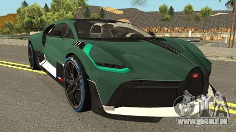 Bugatti Divo 2019 für GTA San Andreas Innenansicht