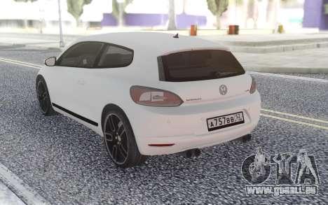 Volkswagen Scirocco 2.OTSI pour GTA San Andreas sur la vue arrière gauche