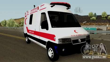 Fiat Ducato 2005 Turkish Ambulance für GTA San Andreas Innenansicht