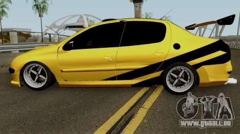 Peugeot 206 Sandogdar Full Sport Iran für GTA San Andreas linke Ansicht
