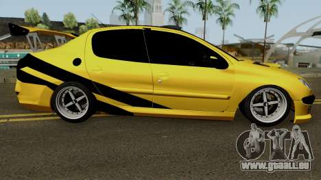 Peugeot 206 Sandogdar Full Sport Iran für GTA San Andreas Rückansicht