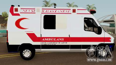 Fiat Ducato 2005 Turkish Ambulance für GTA San Andreas Rückansicht