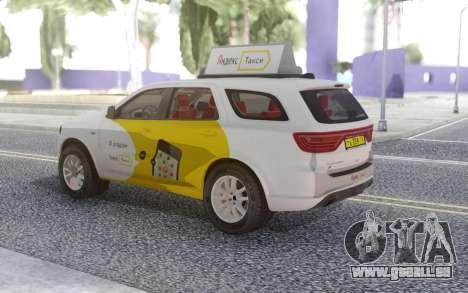 Dodge Durango SRT Yandex Taxi pour GTA San Andreas vue de droite