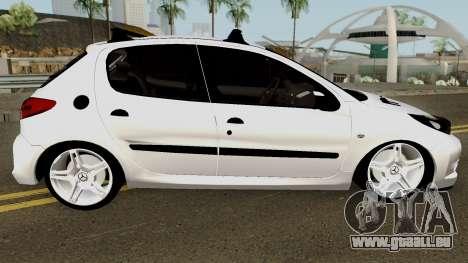 Peugeot 206 2012 pour GTA San Andreas vue arrière