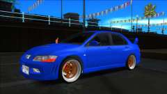 Mitsubishi Lancer Evolution VII Blue für GTA San Andreas