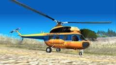 Sowjetischen Hubschrauber Mi-2 Aeroflot für GTA San Andreas