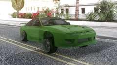 Nissan 180SX Green für GTA San Andreas