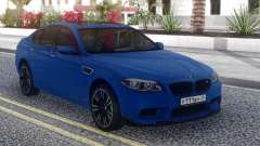 BMW M5 F10 Blue Sedan pour GTA San Andreas