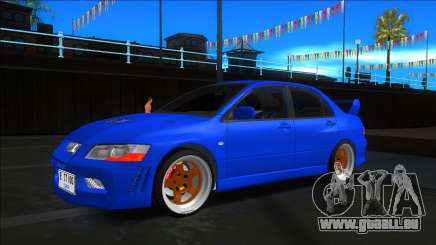 Mitsubishi Lancer Evolution VII Blue für GTA San Andreas