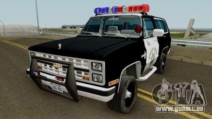 SAHP Chevrolet Blazer 1985 für GTA San Andreas