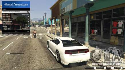 Manual Transmission and Steering Wheel Support für GTA 5