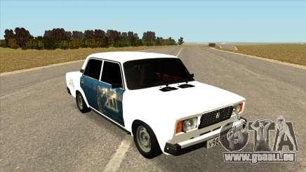 VAZ 2107 Hobo Weiß für GTA San Andreas