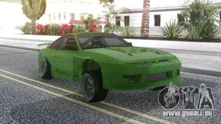 Nissan 180SX Green pour GTA San Andreas