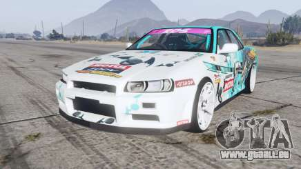 Nissan Skyline GT sedan (ER34) 2000 GT-Shop v1.1 pour GTA 5