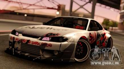 Nissan Silvia S15 Rocket Bunny Red pour GTA San Andreas