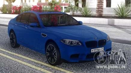 BMW M5 F10 Blue Sedan für GTA San Andreas