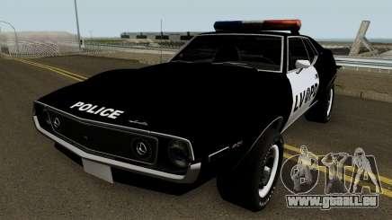 AMC Javelin AMX 401 Police LVPD 1971 V1 pour GTA San Andreas