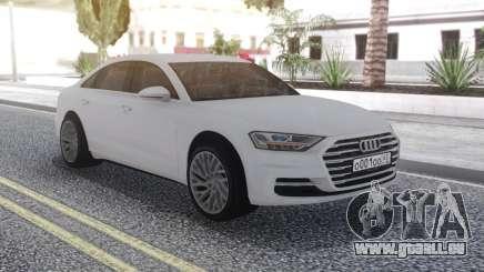 Audi A8 2018 White für GTA San Andreas