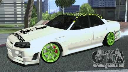 Nissan Skyline ER34 Custom pour GTA San Andreas
