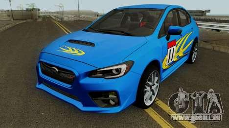 Subaru WRX STI 2016 pour GTA San Andreas vue de dessus