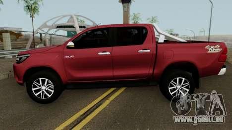Toyota Hilux SRX 4X4 2017 pour GTA San Andreas