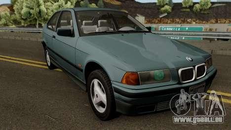 BMW 3-Series e36 Compact 318ti 1995 (US-Spec) pour GTA San Andreas vue intérieure